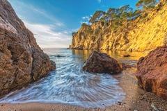 Nice landscape of the Spanish coastal in Costa Brava Stock Photo