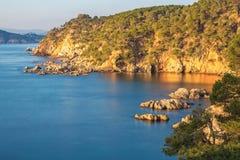 Nice landscape of the Spanish coastal in Costa Brava Stock Photography