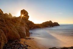 Nice landscape of the Spanish coastal in Costa Brava Stock Image
