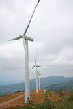 Nice landscape with wind turbines. Royalty Free Stock Photo