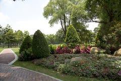 Nice landscapes design in Ersha Island Guangzhou China. Outdoor landscapes design in city Guangzhou Ersha Island park spring, Guangdong province Stock Images