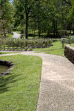 Nice landscapes design in rose park. Nice rose Park design in Tyler TX USA Royalty Free Stock Photos