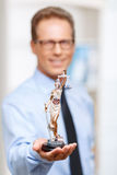 Nice lawyer holding statue of justice Royalty Free Stock Images