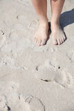 Nice legs in on the beach Royalty Free Stock Photography