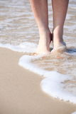 Nice legs in water Royalty Free Stock Image