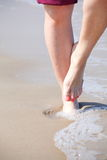 Nice legs in water Royalty Free Stock Photos