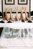Nice legs of the young girls and a bride. A Stock Photos