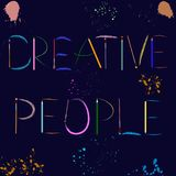 Creative People hand written lettering. Vector eps 10. vector illustration