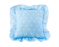 Nice light blue kid pillow royalty free stock photography