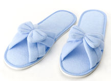 Nice blue slipper isolated  Royalty Free Stock Photos