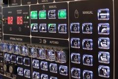 CNC control panel. Nice light buttons CNC control panel stock image