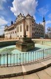 Nice Litomysl castle in Bohemia Stock Photo