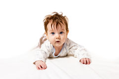 Nice little baby crawling Royalty Free Stock Photography
