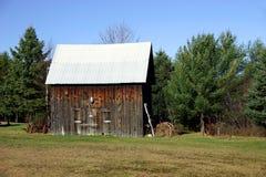 Nice Little Barn. A nice a little barn in Quebec, Canada Royalty Free Stock Photos