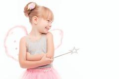 Nice little fairy feeling joy Stock Images