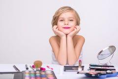 Free Nice Little Girl Doing Make Up Royalty Free Stock Photo - 65523145