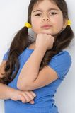 Nice little girl pretending serious. Stock Photography
