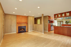 Nice living room with hardwood floor. Nice living room with hard wood floor and fireplace Stock Photography