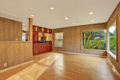 Nice living room with hardwood floor. Nice living room with hard wood floor and windows Stock Photo