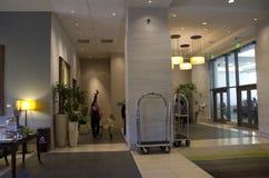 Nice lobby of Grand Hyatt Bellevue Stock Photo