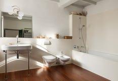 Nice loft, bathroom Stock Photography