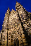 St. vitus cathedral facade Royalty Free Stock Images
