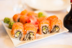 Nice looking and tasty food sushi Stock Photography