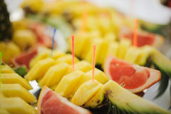 Nice looking and tasty pineapple Royalty Free Stock Photos