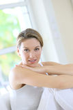 Nice-looking woman resting at home Stock Images