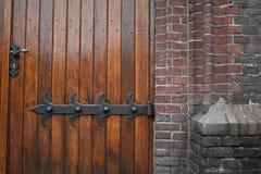 Wooden church doors stock photos