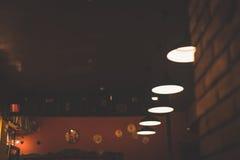 Nice lounge bar with lights Stock Photo
