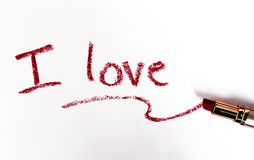 Nice love message Royalty Free Stock Photography