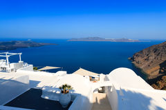A nice luxury hotel in Fira, Santorini Stock Photography