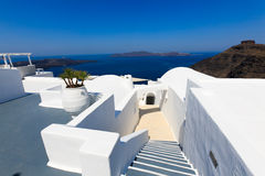 A nice luxury hotel in Fira, Santorini Royalty Free Stock Photography