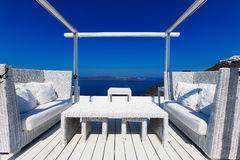 A nice luxury hotel in Fira, Santorini Stock Photos