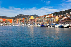 Nice and Luxury Yachts, French Riviera, France Royalty Free Stock Photos