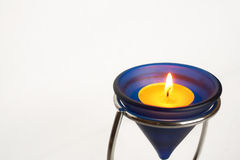 Nice macro of candle on white background Royalty Free Stock Images