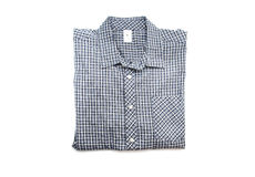 Nice male check shirt. Isolated on white Stock Image