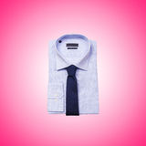Nice male shirt against the gradient Stock Photography