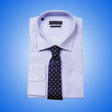 Nice male shirt isolated on the white Royalty Free Stock Photos
