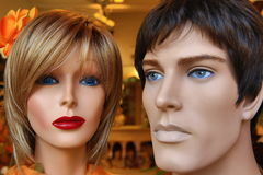 Nice mannequins (male and female) Stock Images
