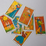 Nice Marseilles Tarot Decks Royalty Free Stock Images