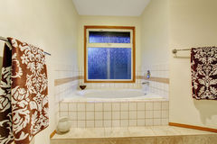 Nice master bathroom with jacuzzi tub Royalty Free Stock Photography