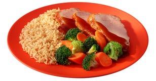 Nice meal with broccoli Stock Photos