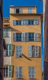 Nice mediterranean house facades Stock Photography