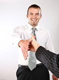 Nice Meeting You!. Photo Of A Young Enthusiastic Man Shaking Hands Stock Photos