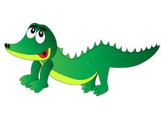 Nice merry crocodile Stock Photo