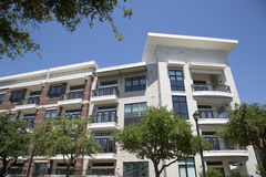 Nice modern apartment buildings with balcony royalty free stock photo