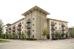 Nice modern apartment buildings royalty free stock photography
