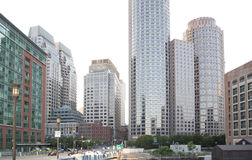 Nice modern buildings in Boston royalty free stock images